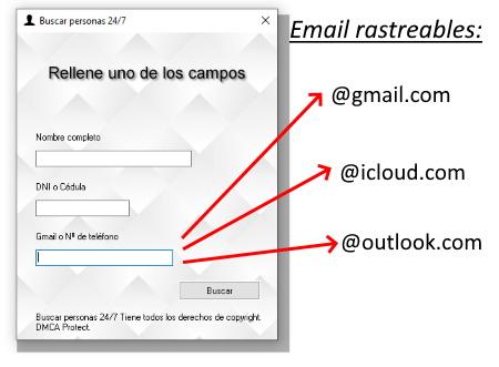 rastrear persona por email
