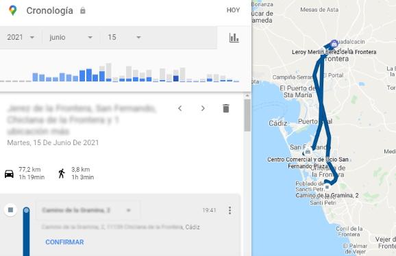 historial de ubicaciones GPS de google